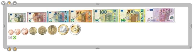 Währung in Openboard freie Unterrichtssoftware