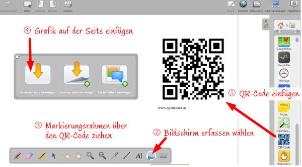 Permanenten QR-Code in Openboard erzeugen