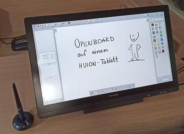 OpenBoard auf dem Huion Kamvas Grafiktablett